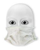 Masque sur le masque Photographie stock libre de droits