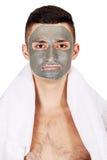 Masque sur le visage Images libres de droits