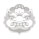 Masque traditionnel de Balinese Barong Images libres de droits