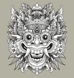 Masque traditionnel de Barong de Balinese Images stock
