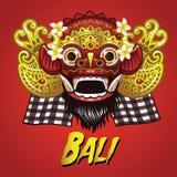 Masque traditionnel de Barong de Balinese Illustration Stock