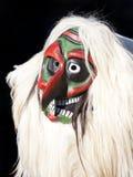 Masque traditionnel de Tschaggatta, Suisse photo stock