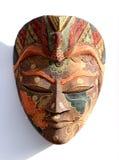 Masque traditionnel sur le blanc Photographie stock libre de droits