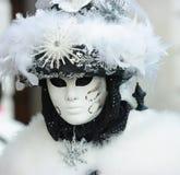 Masque vénitien pelucheux Photographie stock libre de droits