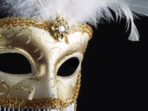 Masque vénitien traditionnel de carnaval. Photographie stock libre de droits