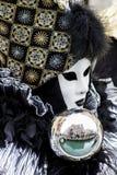 Masque vénitien traditionnel de carnaval Photos libres de droits
