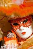 Masque vénitien traditionnel de carnaval Photographie stock libre de droits