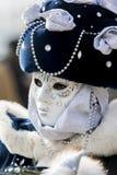 Masque vénitien traditionnel de carnaval Photos stock