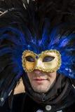 Masque vénitien traditionnel de carnaval Images libres de droits