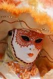 Masque vénitien traditionnel de carnaval Photo stock
