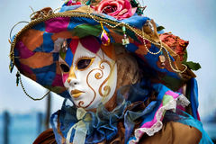 Masque vénitien traditionnel de carnaval Image libre de droits
