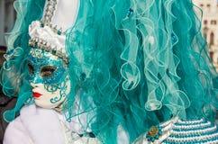 Masque vénitien traditionnel de costume de carnaval images stock