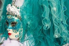 Masque vénitien traditionnel de costume de carnaval photo stock