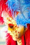 Masque vénitien traditionnel grand Photos stock