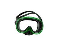 Masque vert de plongée Photo stock