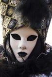 Masque vénitien traditionnel de carnaval Image libre de droits