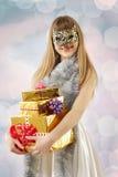 masquerade маски девушки рождества кота Стоковые Изображения
