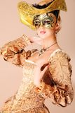 At a masquerade Stock Image