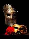 Masquerade. Masks painted with light