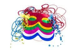 Masquerade accessories for Mardi Gras parties. Studio Photo stock photos