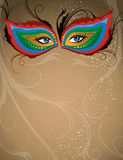 Masquerade Background. A masquerade party backgeound with a mask Stock Photo