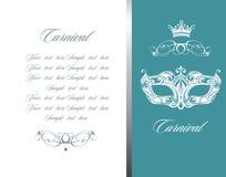 Masquerade ball party invitation poster Royalty Free Stock Photography