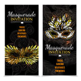 Masquerade Carnival Banners Royalty Free Stock Photo