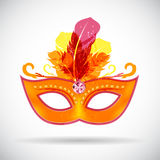 Masquerade Carnival Mask Icon Vector Illustration Stock Images