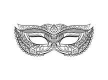 Masquerade Carnival Mask. Vector. Masquerade Carnival Mask Thin Line Set Pixel Perfect Art. Material Design.. Vector illustration Stock Photos
