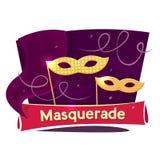 Masquerade concept design, vector illustration Stock Images