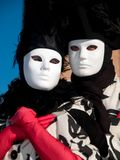 Masquerade couple at the carnival of Venice Royalty Free Stock Photos