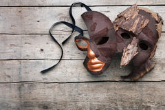 Masquerade and disguise for theater and masked ball. Copyspace Royalty Free Stock Photos