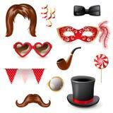 Masquerade elements Royalty Free Stock Image