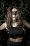 Masquerade.Girl.Veni ce carnival mask Close-up female portrait.i Stock Photos