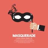 Masquerade. Hand Holding Masquerade Vector Illustration Stock Photography