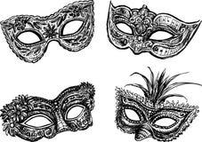 Masquerade máscaras ilustração do vetor