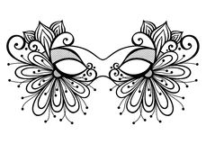 Masquerade Mask. Beautiful Masquerade Mask (Vector), Patterned design Royalty Free Stock Photos