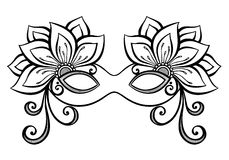 Masquerade Mask. Beautiful Masquerade Mask (Vector), Patterned design Stock Image