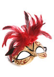 Masquerade mask cutout. Masquerade mask studio cutout on white background Royalty Free Stock Photography