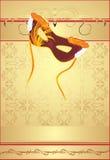 Masquerade mask on the decorative background vector illustration