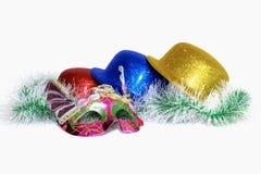 Masquerade mask hats embellishment Royalty Free Stock Photos