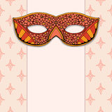 Masquerade mask on a rose background Royalty Free Stock Photos