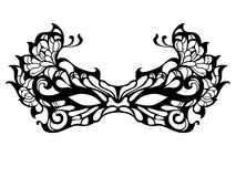 Masquerade mask. Vector black openwork masquerade mask Royalty Free Stock Images