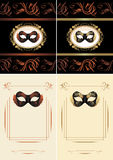 Masquerade masks. Title page for design. Illustration Royalty Free Stock Photography