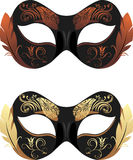 Masquerade masks  on the white Stock Photography