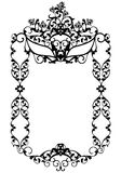Masquerade party frame vector design with carnival mask among. Masquerade party decor with carnival mask among rose flowers  - black and white vector frame Stock Photos