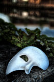Masquerade - Phantom of the Opera Mask. On Vintage Bridge Stock Photos