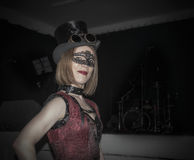 Masquerade. A steampunk girl on a masquerade Stock Photo