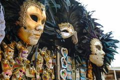Masquerade Venetian masks on sale in Venice, Italy. VENICE - NOVEMBER 20: Masquerade Venetian masks on sale on November 20, 2015 in Venice, Italy. The annual stock photography