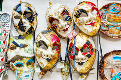 Masquerade Venetian masks  on sale in Venice, Italy Royalty Free Stock Photo